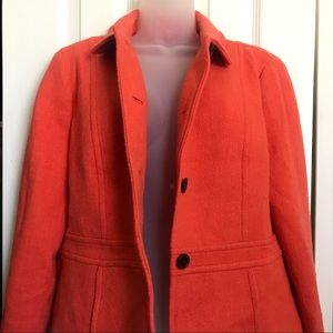 Talbots Orange Blazer Jacket